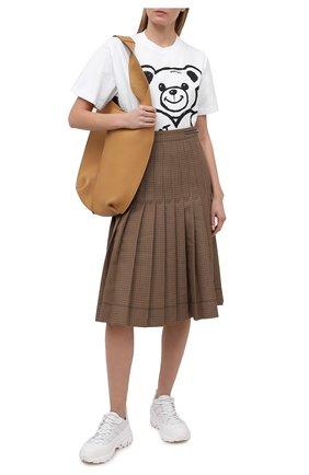 Женская хлопковая футболка DOMREBEL белого цвета, арт. PSYCH0/B0X T-SHIRT/W   Фото 2