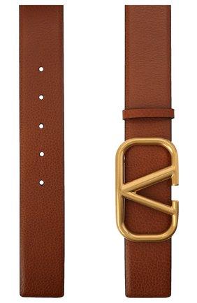 Женский кожаный ремень VALENTINO коричневого цвета, арт. VW2T0S11/ZHY | Фото 2 (Материал: Кожа)