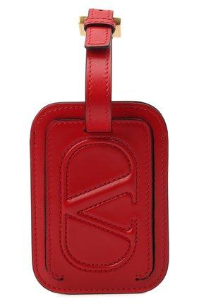 Женского кожаная бирка  VALENTINO красного цвета, арт. VW2P0V25/QEL | Фото 1