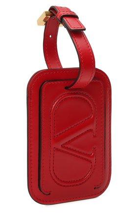 Женского кожаная бирка  VALENTINO красного цвета, арт. VW2P0V25/QEL | Фото 2