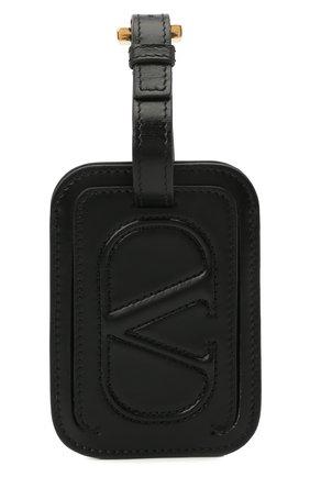 Женского кожаная бирка  VALENTINO черного цвета, арт. VW2P0V25/QEL | Фото 1