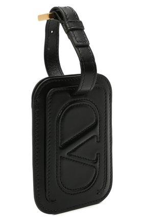 Женского кожаная бирка  VALENTINO черного цвета, арт. VW2P0V25/QEL | Фото 2