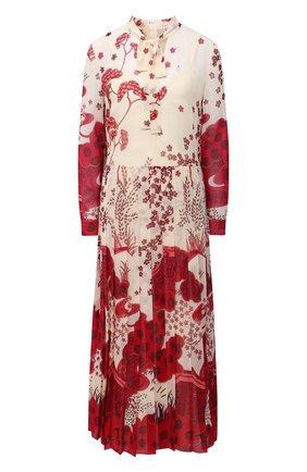 Женское платье REDVALENTINO красного цвета, арт. VR3VAW70/5S1 | Фото 1