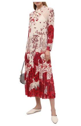 Женское платье REDVALENTINO красного цвета, арт. VR3VAW70/5S1 | Фото 2