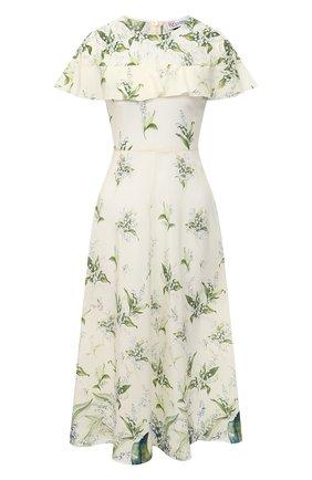 Женское шелковое платье REDVALENTINO кремвого цвета, арт. VR3VAF20/5LW | Фото 1