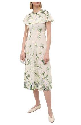 Женское шелковое платье REDVALENTINO кремвого цвета, арт. VR3VAF20/5LW | Фото 2