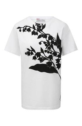 Женская хлопковая футболка REDVALENTINO белого цвета, арт. VR3MG08U/5PQ | Фото 1