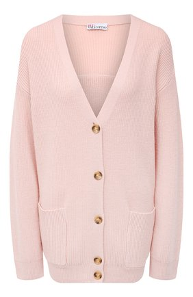 Женский шерстяной кардиган REDVALENTINO светло-розового цвета, арт. VR3KA01K/5NG | Фото 1