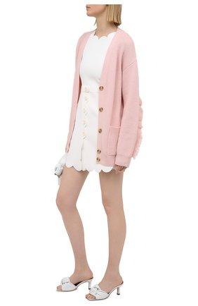Женский шерстяной кардиган REDVALENTINO светло-розового цвета, арт. VR3KA01K/5NG | Фото 2