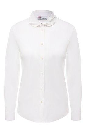 Женская хлопковая рубашка REDVALENTINO белого цвета, арт. VR3ABF40/0ES | Фото 1