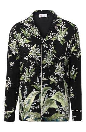Женская шелковая рубашка REDVALENTINO черного цвета, арт. VR3ABF15/5LW | Фото 1