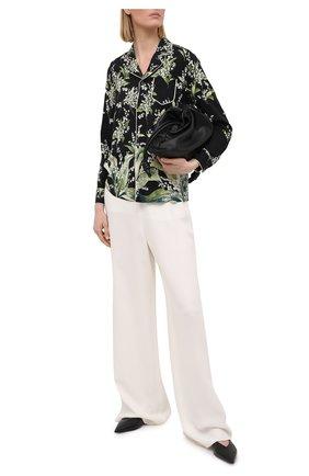 Женская шелковая рубашка REDVALENTINO черного цвета, арт. VR3ABF15/5LW | Фото 2