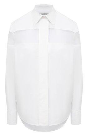 Женская хлопковая рубашка VALENTINO белого цвета, арт. VB3AB1V55DN | Фото 1