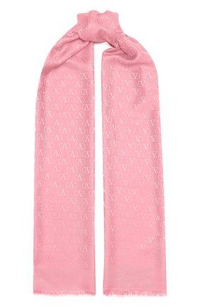 Женская палантин  VALENTINO розового цвета, арт. VW2ED007/AJB   Фото 1