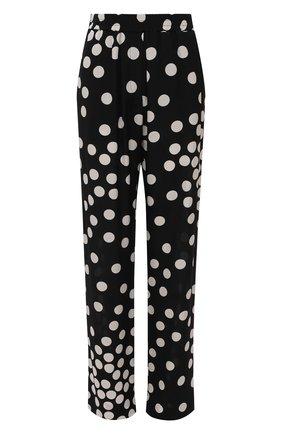 Женские шелковые брюки VALENTINO черно-белого цвета, арт. VB3RB43565N | Фото 1