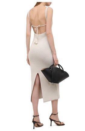 Женское хлопковое платье VALENTINO белого цвета, арт. VB3KD05Y6AD | Фото 2