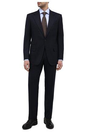 Мужские кожаные дерби ZILLI черного цвета, арт. MDS-A071/007   Фото 2 (Стили: Классический; Материал внешний: Кожа; Материал внутренний: Текстиль)