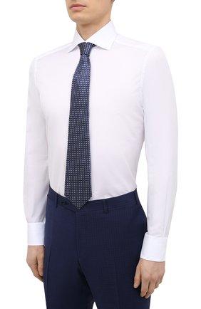 Мужская хлопковая сорочка ERMENEGILDO ZEGNA белого цвета, арт. 901032/9MS0BA | Фото 4