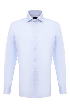 Мужская хлопковая сорочка ERMENEGILDO ZEGNA голубого цвета, арт. 901033/9MS0BA | Фото 1