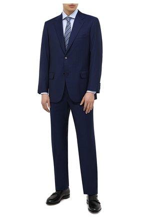 Мужская хлопковая сорочка ERMENEGILDO ZEGNA голубого цвета, арт. 901033/9MS0BA | Фото 2