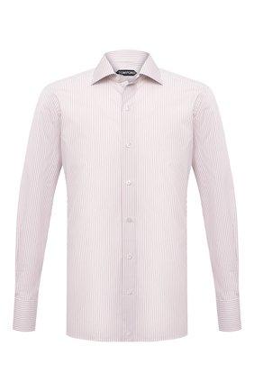 Мужская хлопковая сорочка TOM FORD бежевого цвета, арт. 9FT775/94S3AX | Фото 1