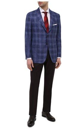 Мужской пиджак из кашемира и шелка KITON темно-синего цвета, арт. UG81K06T46   Фото 2