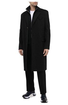 Мужские кожаные кроссовки GIORGIO ARMANI темно-синего цвета, арт. X2X136/XF529 | Фото 2
