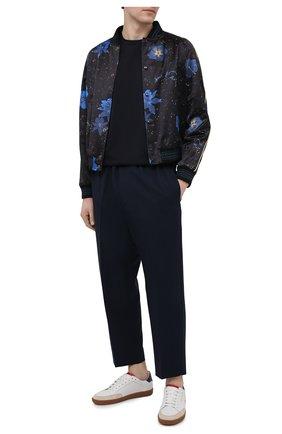 Мужская хлопковая футболка GIORGIO ARMANI темно-синего цвета, арт. 3KSM93/SJXDZ | Фото 2