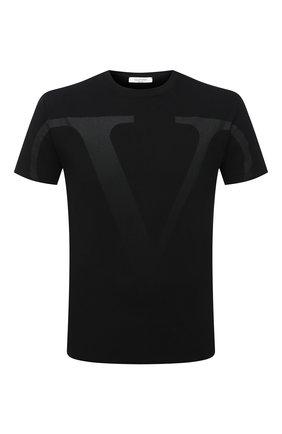 Мужская хлопковая футболка VALENTINO черного цвета, арт. VV3MG10V73U | Фото 1