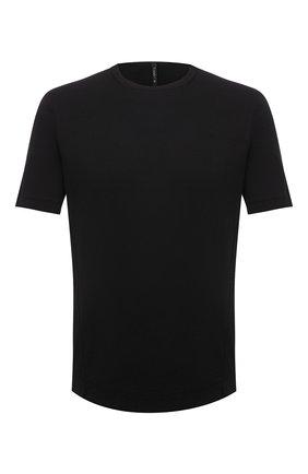 Мужская хлопковая футболка TRANSIT черного цвета, арт. CFUTRN3381 | Фото 1