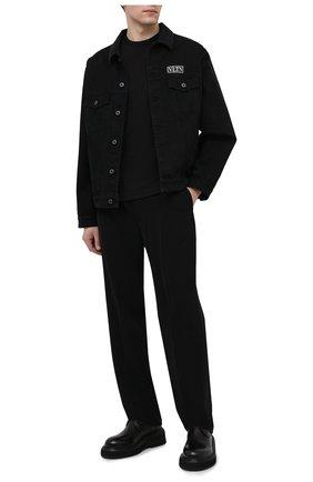 Мужская хлопковая футболка TRANSIT черного цвета, арт. CFUTRN3381 | Фото 2