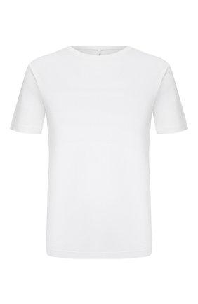 Мужская хлопковая футболка TRANSIT белого цвета, арт. CFUTRN3382   Фото 1