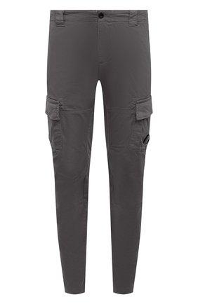 Мужские хлопковые брюки-карго C.P. COMPANY серого цвета, арт. 10CMPA151A-005694G | Фото 1 (Материал внешний: Хлопок; Стили: Кэжуэл; Случай: Повседневный; Длина (брюки, джинсы): Стандартные; Силуэт М (брюки): Карго)