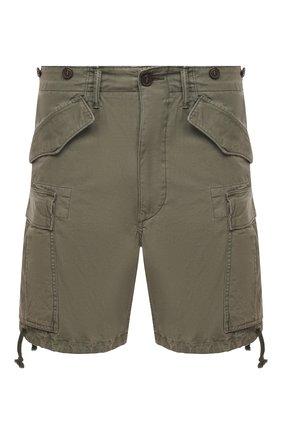 Мужские хлопковые шорты RRL хаки цвета, арт. 782796393 | Фото 1
