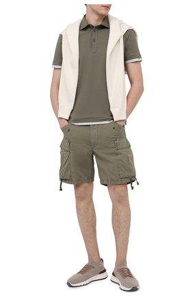 Мужские хлопковые шорты RRL хаки цвета, арт. 782796393 | Фото 2
