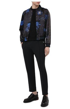 Мужские брюки DOLCE & GABBANA черного цвета, арт. GYACET/FURIR | Фото 2