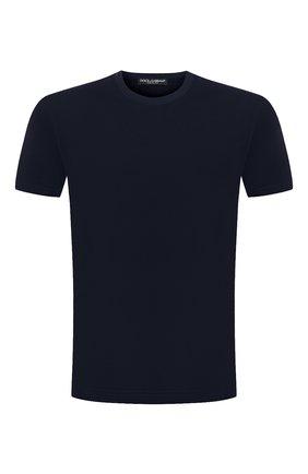 Мужская хлопковая футболка DOLCE & GABBANA синего цвета, арт. G8JX7T/FU7EQ | Фото 1