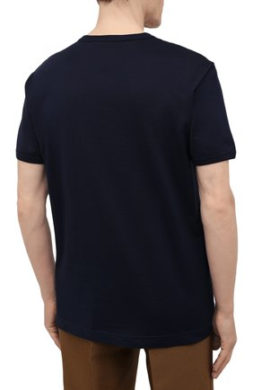 Мужская хлопковая футболка DOLCE & GABBANA синего цвета, арт. G8JX7T/FU7EQ | Фото 4