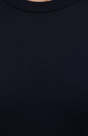 Мужская хлопковая футболка DOLCE & GABBANA синего цвета, арт. G8JX7T/FU7EQ | Фото 5