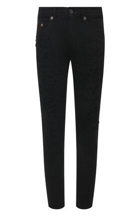 Мужские джинсы NEIL BARRETT черного цвета, арт. PBDE314X/Q805T | Фото 1