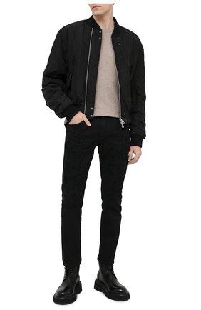 Мужские джинсы NEIL BARRETT черного цвета, арт. PBDE314X/Q805T | Фото 2