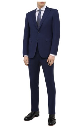 Мужской шерстяной костюм CANALI темно-синего цвета, арт. 19227/93/BR03211 | Фото 1