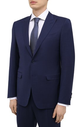 Мужской шерстяной костюм CANALI темно-синего цвета, арт. 19227/93/BR03211 | Фото 2