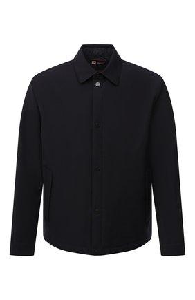 Мужская утепленная куртка Z ZEGNA темно-синего цвета, арт. VW057/ZZT038 | Фото 1 (Принт: Без принта; Рукава: Длинные; Кросс-КТ: Куртка; Стили: Кэжуэл; Материал подклада: Синтетический материал; Длина (верхняя одежда): Короткие; Мужское Кросс-КТ: шерсть и кашемир; Материал внешний: Шерсть)