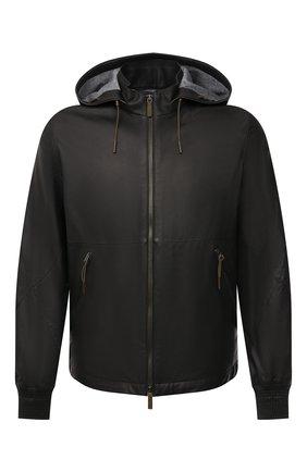 Мужская кожаная куртка ERMENEGILDO ZEGNA черного цвета, арт. UWPNA/W178 | Фото 1