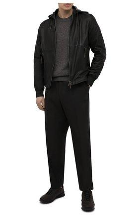 Мужская кожаная куртка ERMENEGILDO ZEGNA черного цвета, арт. UWPNA/W178 | Фото 2