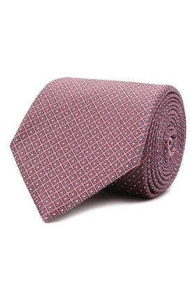 Мужской шелковый галстук ERMENEGILDO ZEGNA розового цвета, арт. Z9E24/100 | Фото 1