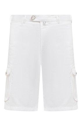 Мужские шорты изо льна и хлопка KITON белого цвета, арт. UFPPBJ07T44 | Фото 1 (Длина Шорты М: До колена; Мужское Кросс-КТ: Шорты-одежда; Материал внешний: Лен, Хлопок; Стили: Кэжуэл; Принт: Без принта)
