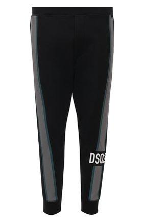 Мужские джоггеры DSQUARED2 черного цвета, арт. S74KB0494/S23360 | Фото 1