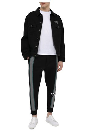 Мужские джоггеры DSQUARED2 черного цвета, арт. S74KB0494/S23360 | Фото 2
